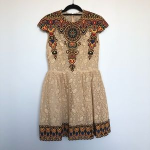 Valentino lace mini dress with embroidery